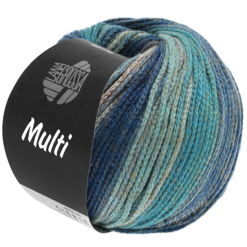 Lana Grossa MULTI | 09-bleu turquoise/bleu gentiane/pétrole/bleu gris