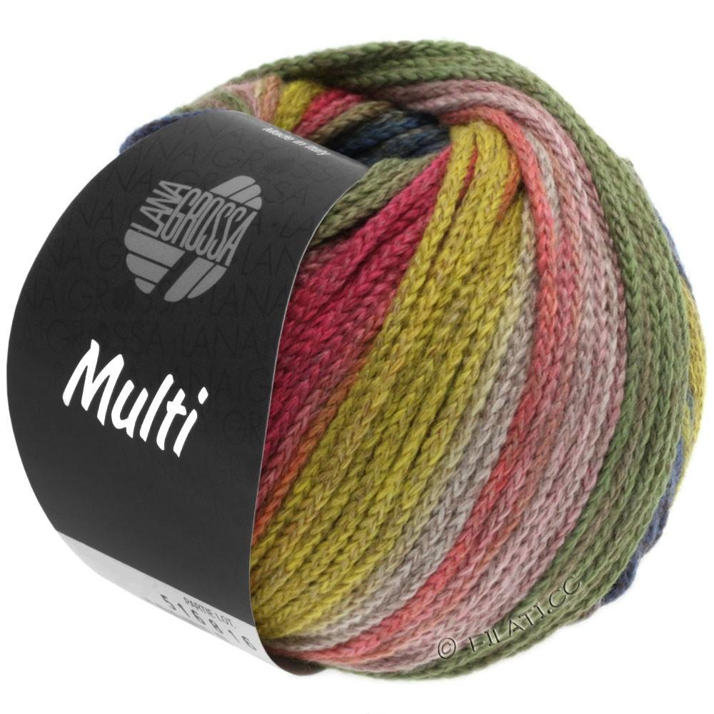 Lana Grossa MULTI | 10-jaune/vert clair/rose vif/brun/pétrole/gris vert
