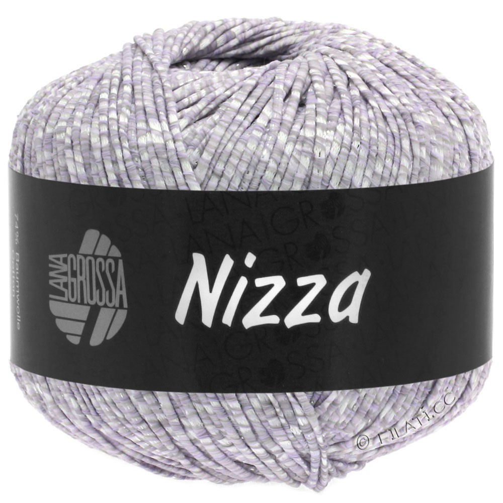 Lana Grossa NIZZA | 02-blanc/lilas tendre/argent