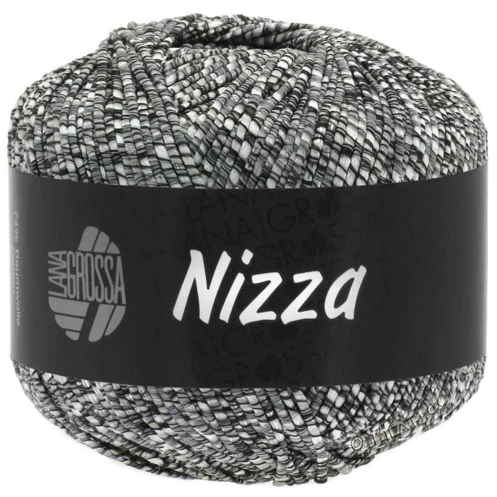 Lana Grossa NIZZA | 11-nature/gris foncé/argent