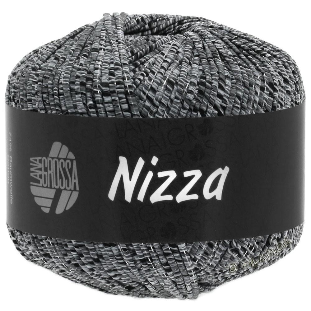 Lana Grossa NIZZA | 12-gris clair/noir/argent