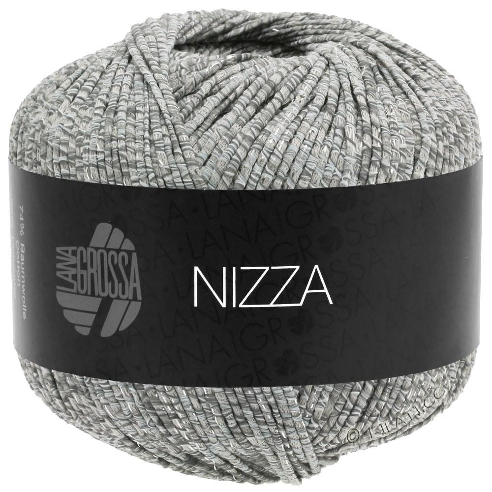 Lana Grossa NIZZA | 13-blanc/gris/beige/argent