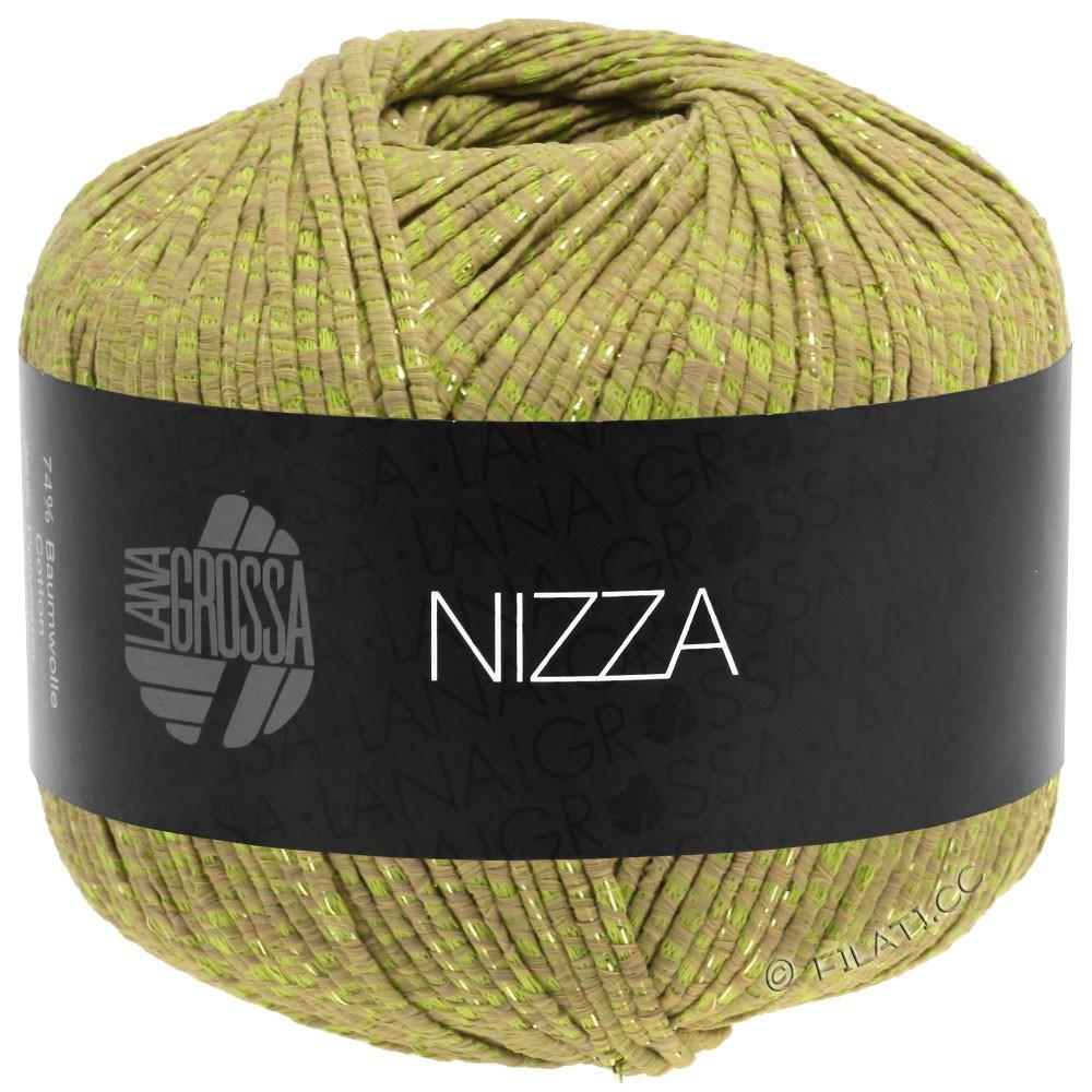 Lana Grossa NIZZA | 14-chameau/vert jaune/doré