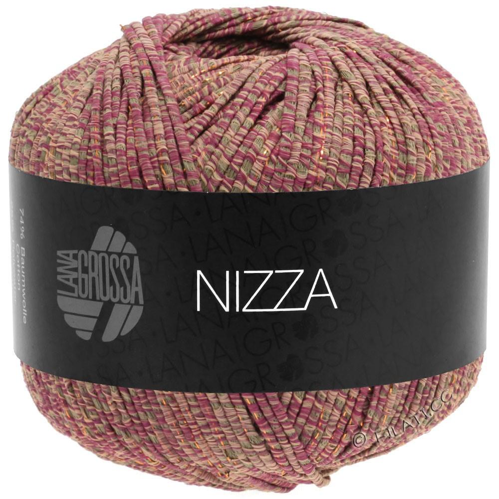 Lana Grossa NIZZA | 15-rouge oriental/taupe/rose/doré