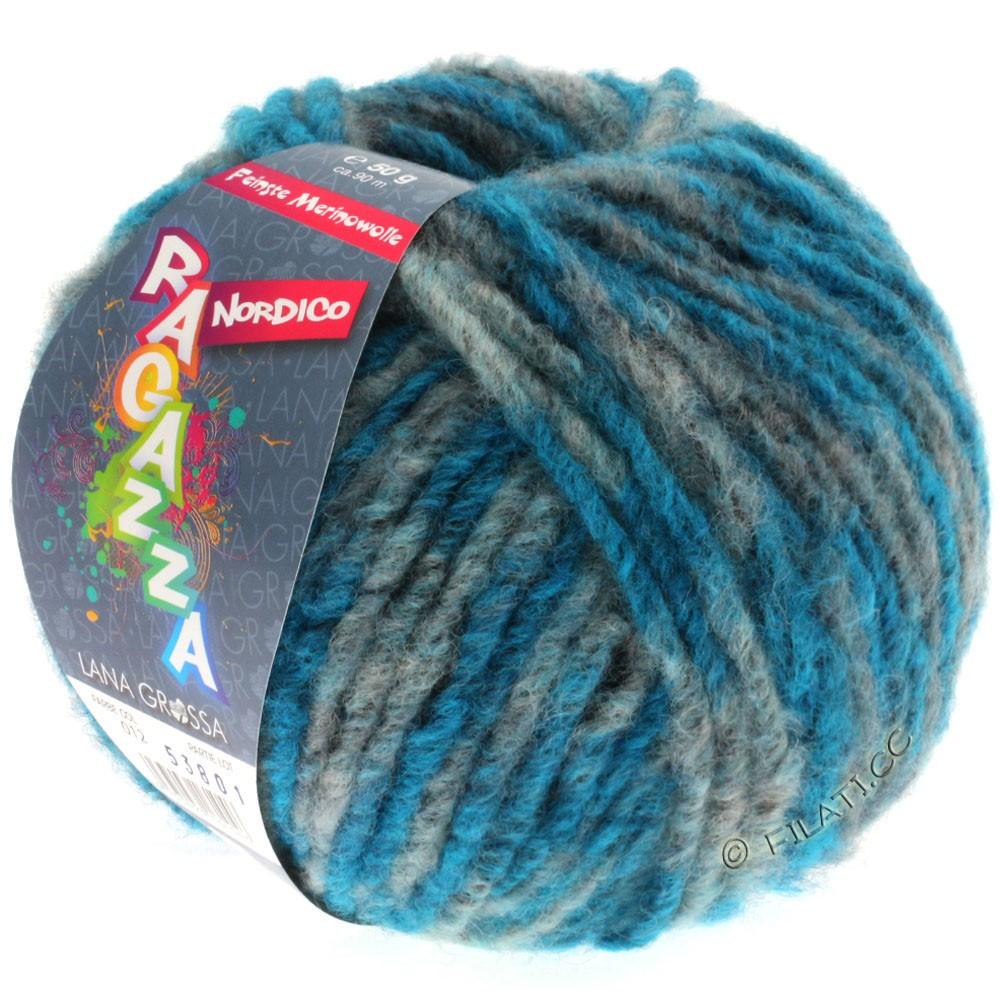Lana Grossa NORDICO (Ragazza) | 12-anthracite/bleu pétrole
