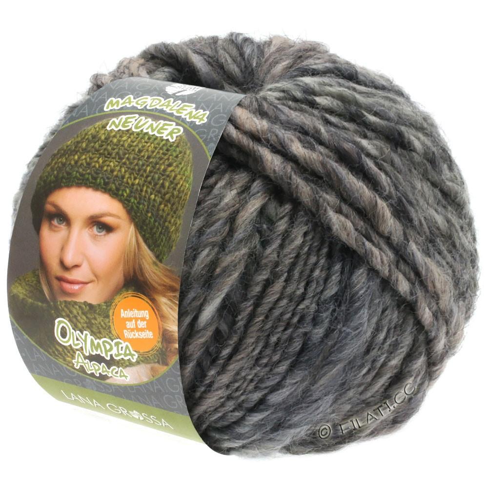 Lana Grossa OLYMPIA Alpaca | 908-taupe/gris foncé chiné