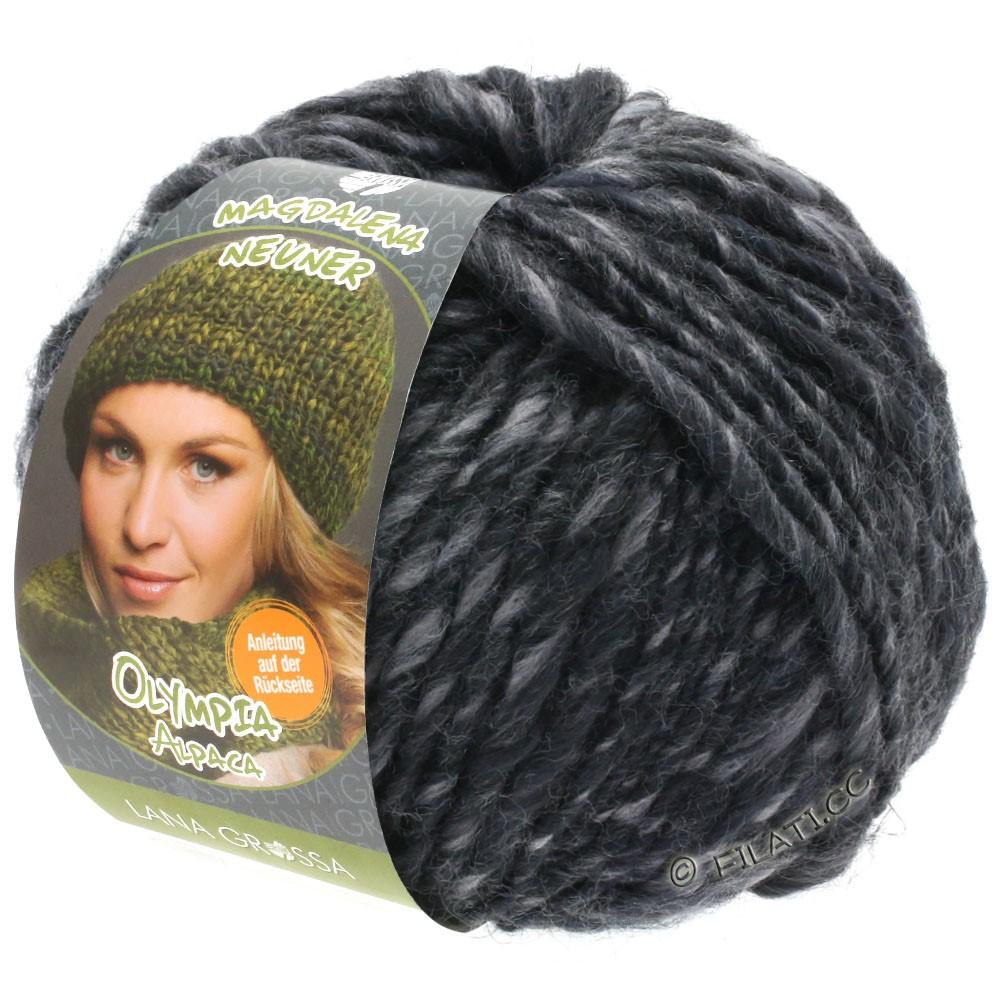 Lana Grossa OLYMPIA Alpaca | 909-gris/anthracite chiné