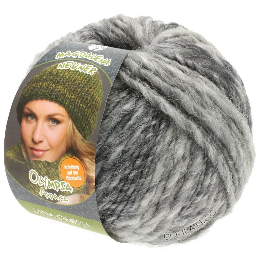 Lana Grossa OLYMPIA Alpaca | 910-gris argent/gris clair/gris moyen chiné