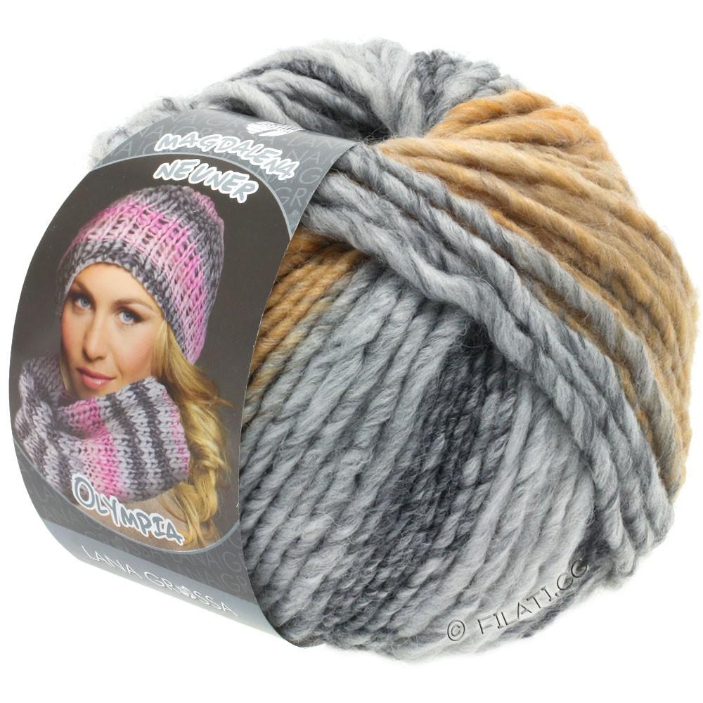 Lana Grossa OLYMPIA Grey | 806-gris foncé/gris clair/gris tendre/beige/chameau