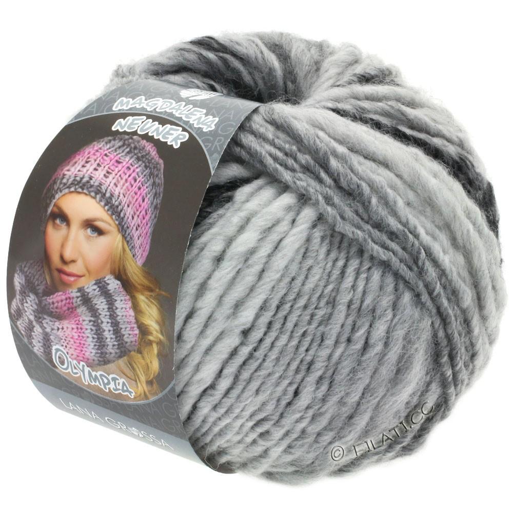 Lana Grossa OLYMPIA Grey | 812-anthracite/gris foncé/gris clair/gris argent