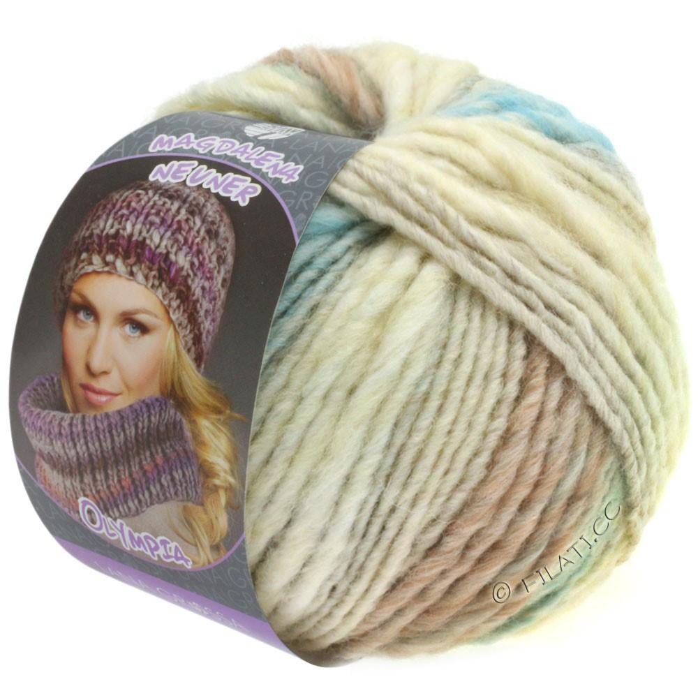 Lana Grossa OLYMPIA Pastello | 601-écru/gris argent/gris clair/vert clair/menthe/vieux rose
