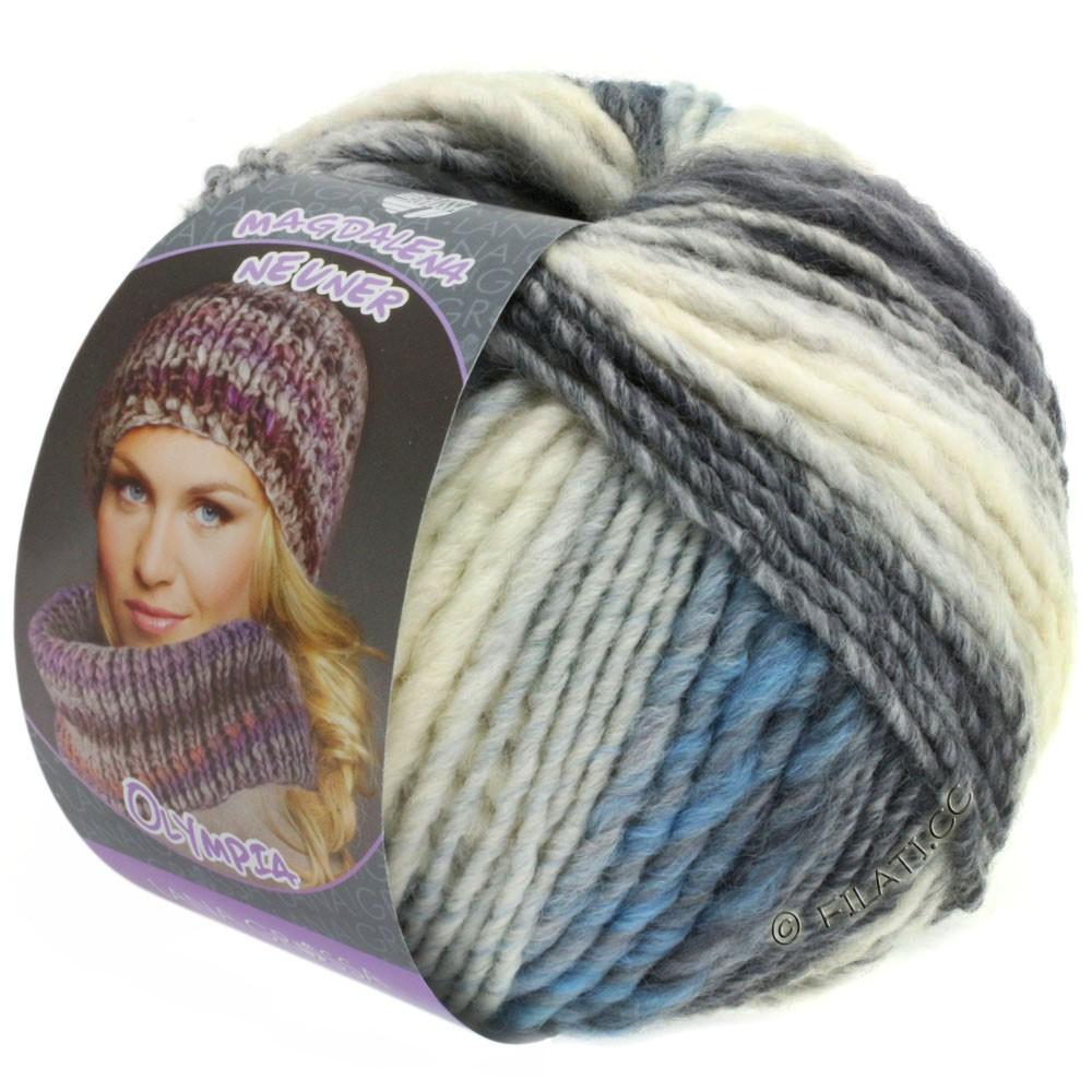 Lana Grossa OLYMPIA Pastello | 602-blanc/gris clair/gris moyen/gris foncé/bleu/bleu clair