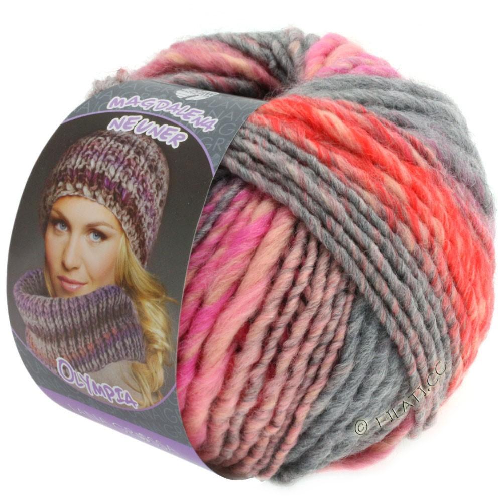 Lana Grossa OLYMPIA Pastello | 603-rose/rouge/rose vif/gris