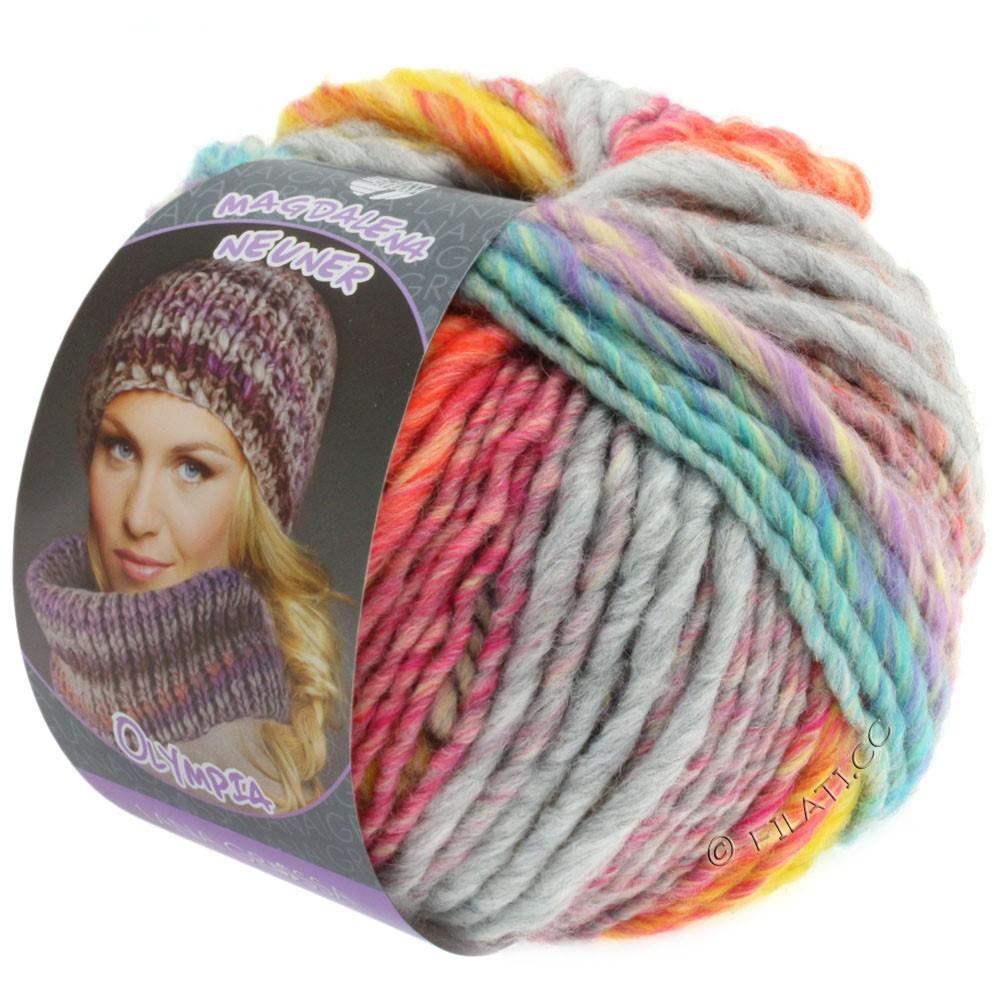 Lana Grossa OLYMPIA Pastello | 604-jaune/orange/rose vif/vert clair/turquoise/gris