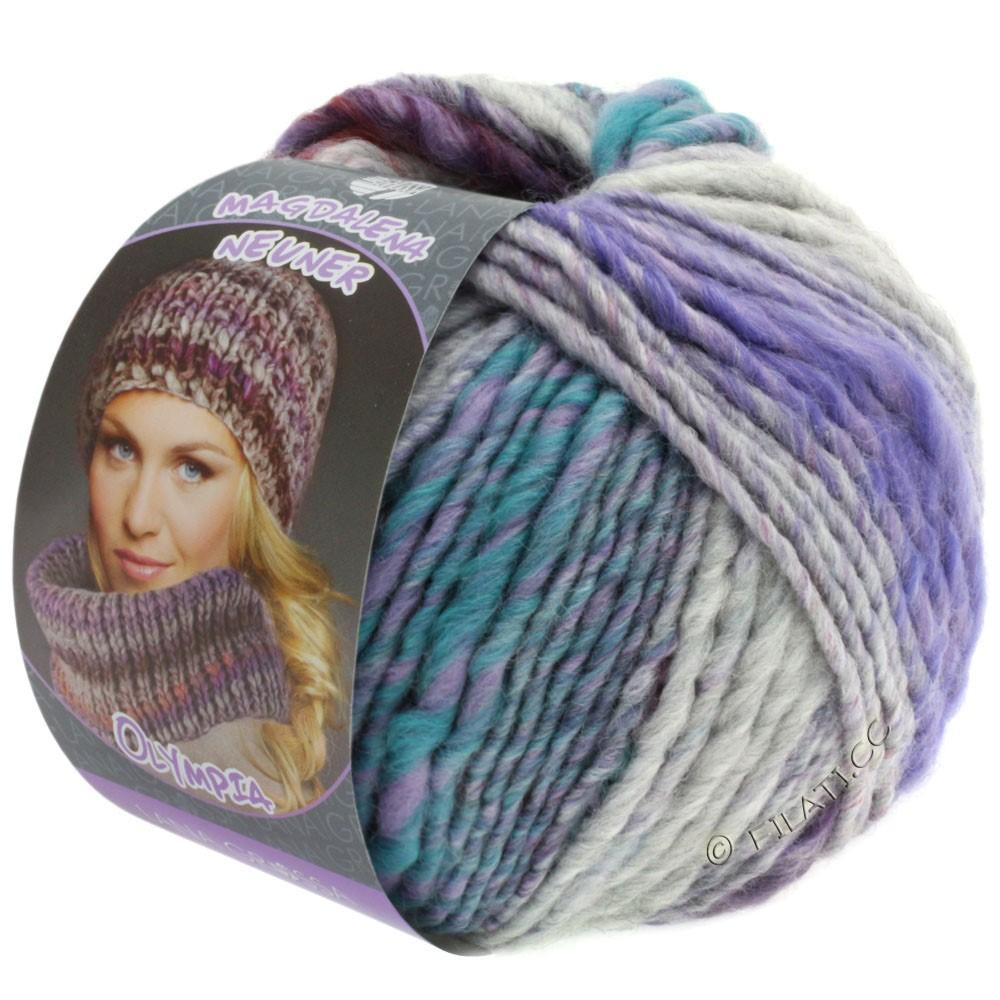 Lana Grossa OLYMPIA Pastello | 605-pourpre/violet/rouge/rose/gris clair