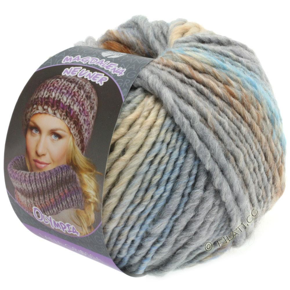 Lana Grossa OLYMPIA Pastello | 606-beige/chameau/taupe/menthe/bleu clair/gris