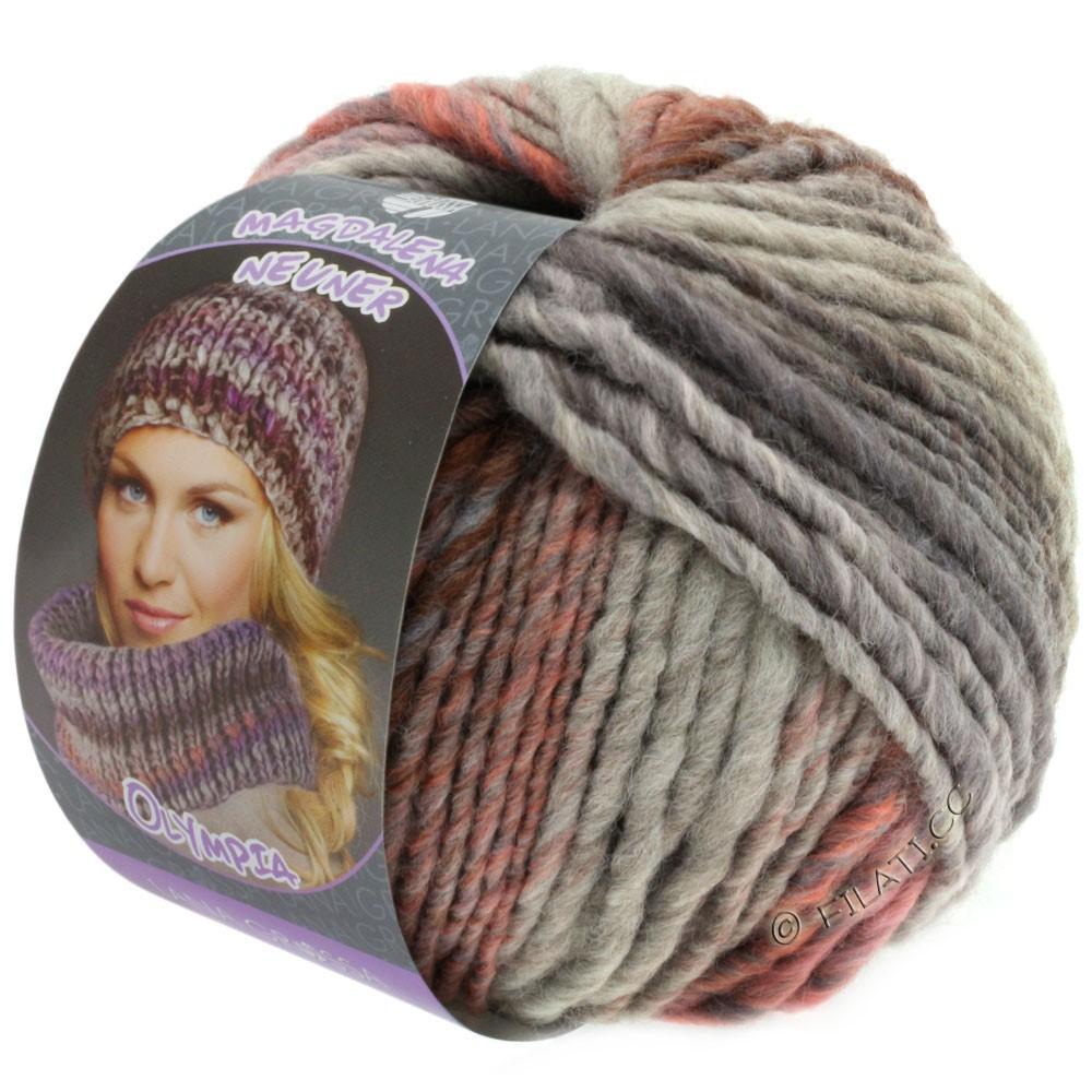Lana Grossa OLYMPIA Pastello | 607-rose/lilas/brun/gris pourpre/gris clair