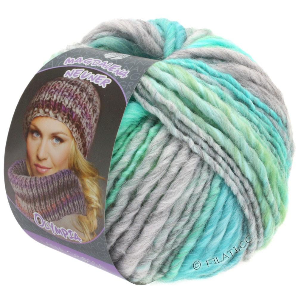 Lana Grossa OLYMPIA Pastello | 609-gris clair/vert clair/bleu tendre/turquoise