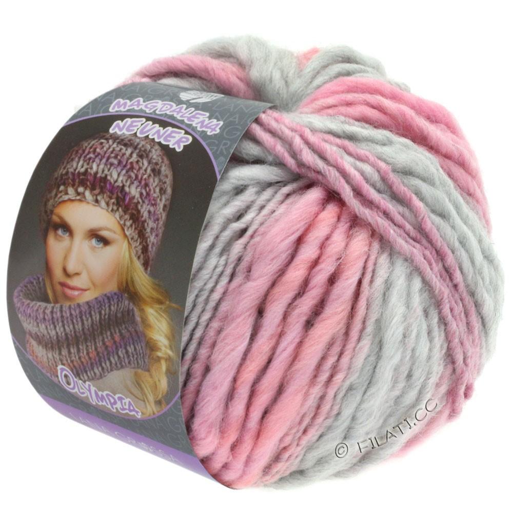 Lana Grossa OLYMPIA Pastello | 610-gris clair/rosé/carnation/mûre