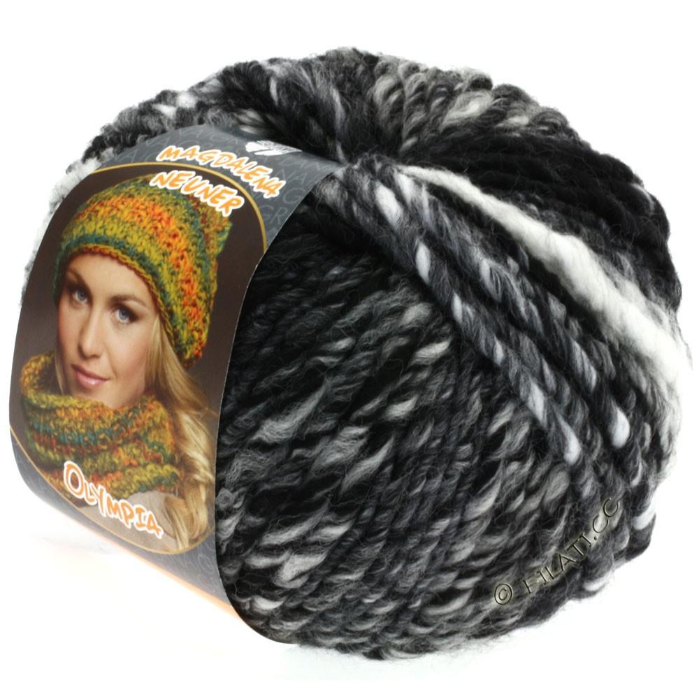 Lana Grossa OLYMPIA Classic | 017-noir/gris/anthracite/blanc