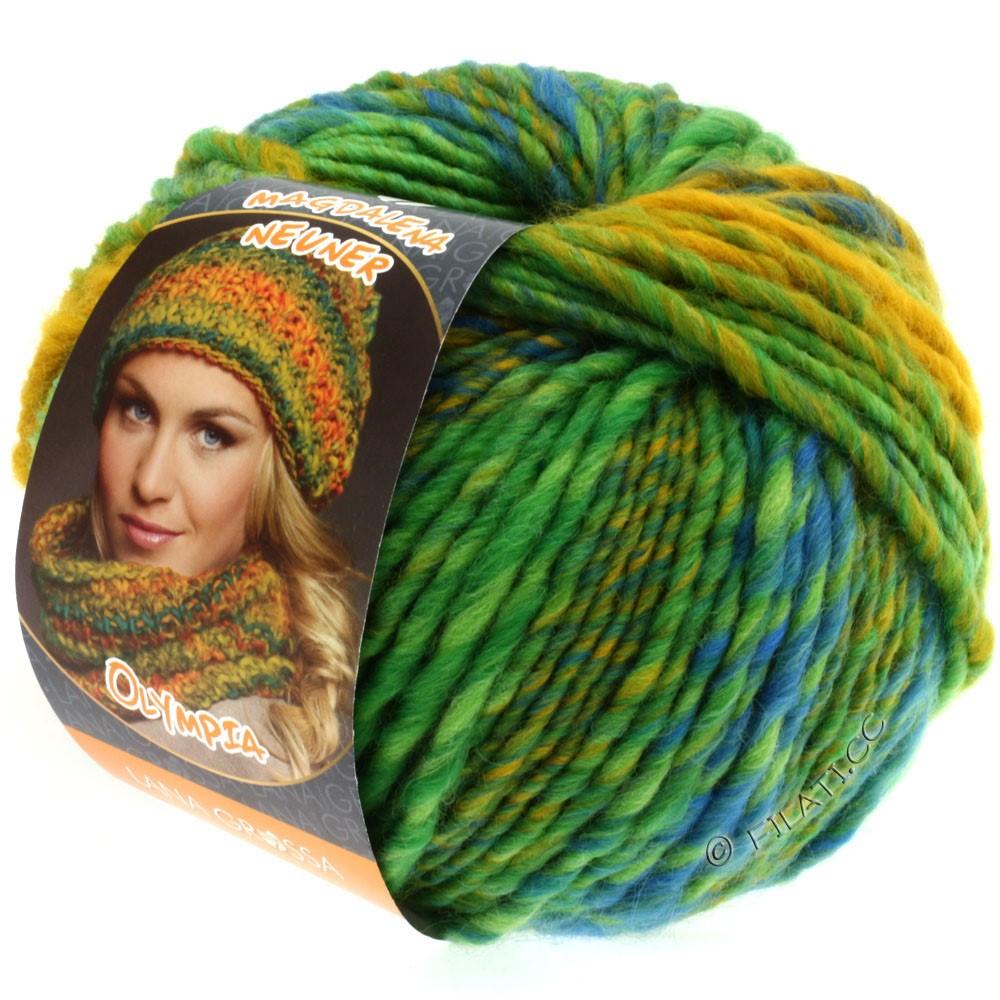 Lana Grossa OLYMPIA Classic | 041-vert jaune/vert turquoise/bleu/jaune maïs/pétrole