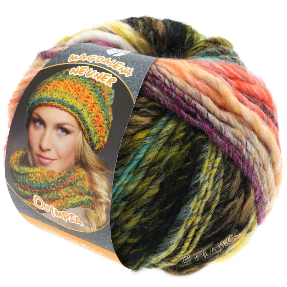Lana Grossa OLYMPIA Classic | 052-brun/beige/moka/rose vif/turquoise/pétrole/jaune moutarde/vert clair/abricot