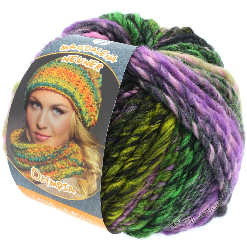 Lana Grossa OLYMPIA Classic | 053-beige/moka/rosé/pétrole/vert jaune/vert/violet bleu