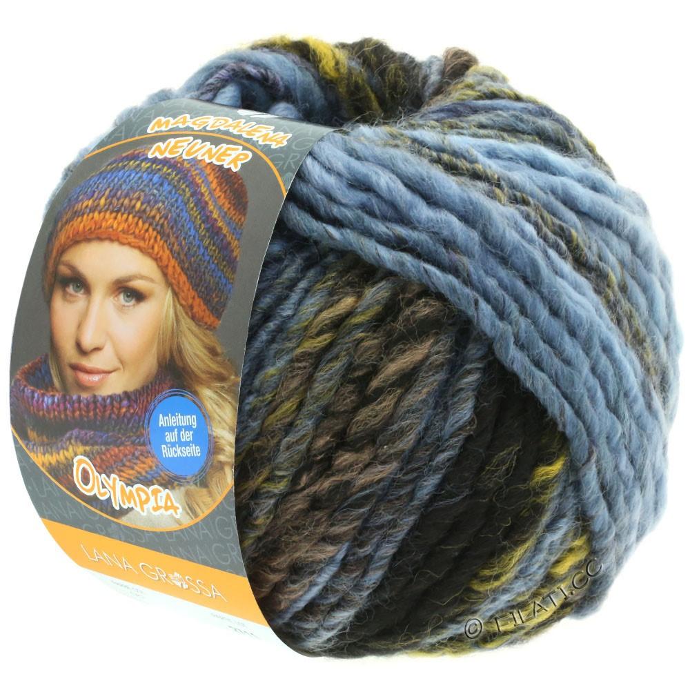 Lana Grossa OLYMPIA Classic | 061-bleu clair/gris bleu/olive/gris foncé/anthracite/noir