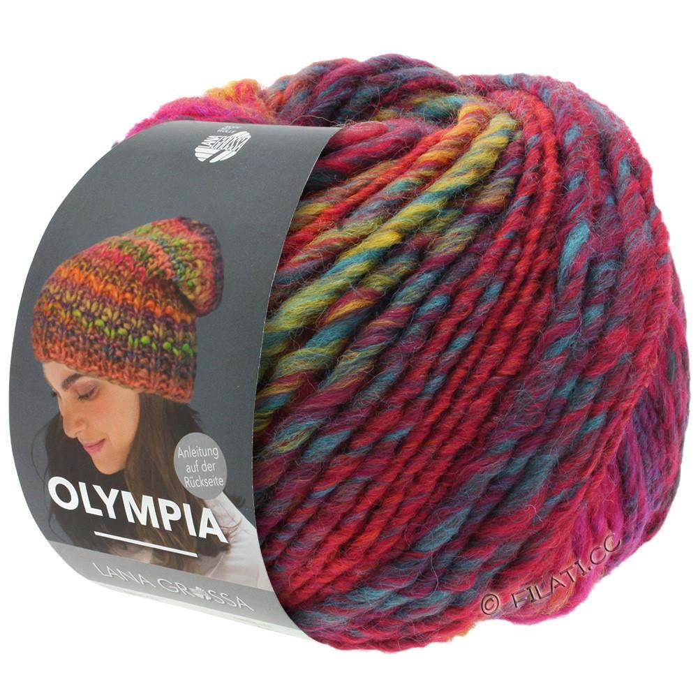 Lana Grossa OLYMPIA Classic | 062-rouge/bleu/pétrole/vert clair/rouge foncé