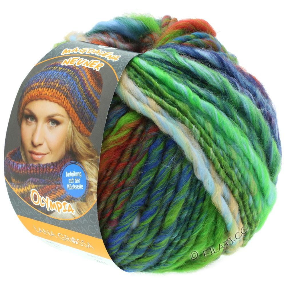Lana Grossa OLYMPIA Classic | 063-vert clair/gris vert/orange/kaki/rouge
