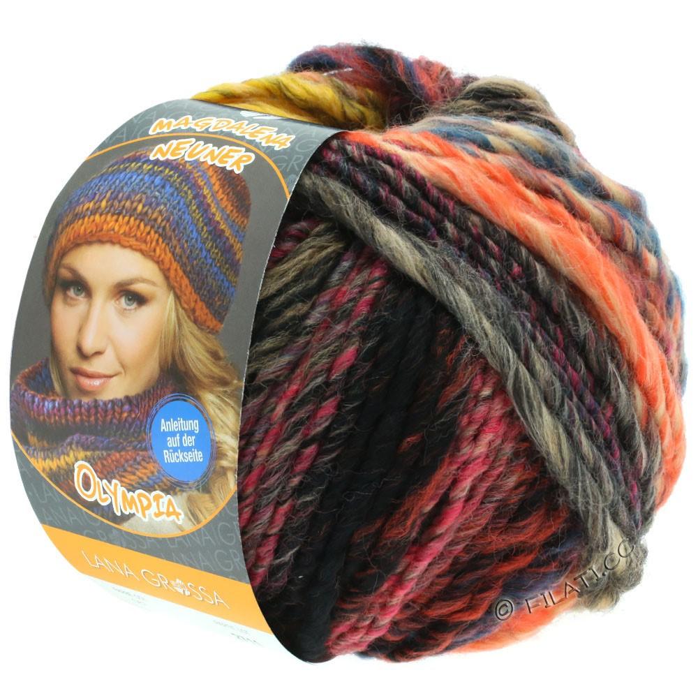 Lana Grossa OLYMPIA Classic | 064-jaune/kaki/brun foncé/pétrole/rose vif/beige/rouge/orange