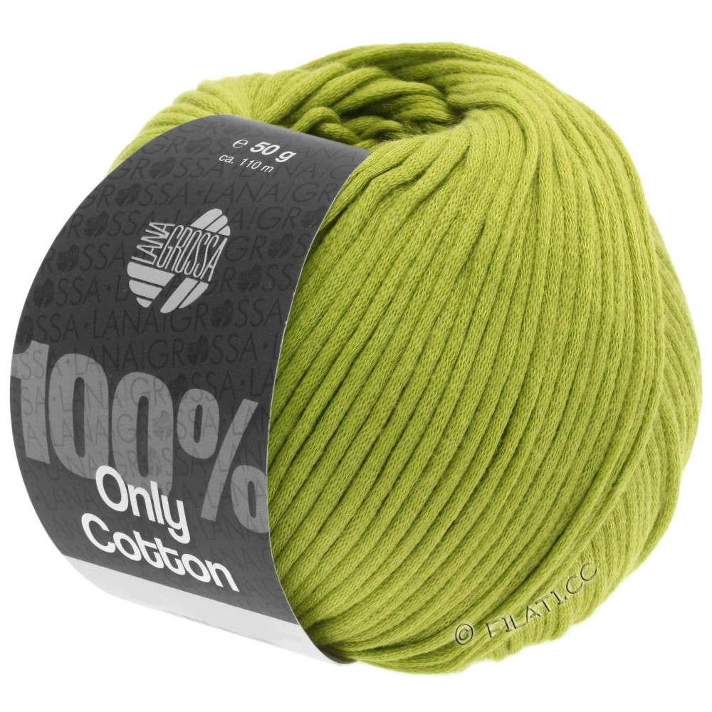 Lana Grossa ONLY COTTON | 10-vert jaune