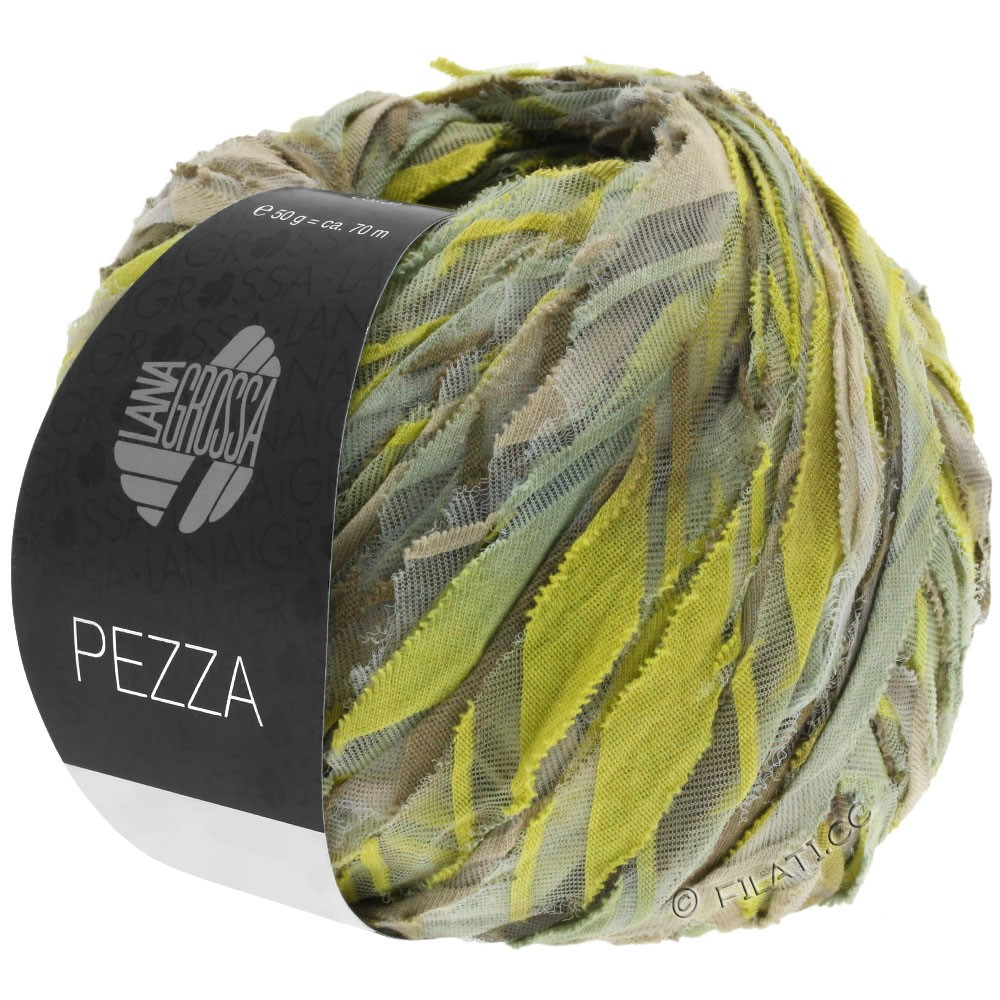 Lana Grossa PEZZA | 02-beige/jaune vert/kaki/roseau