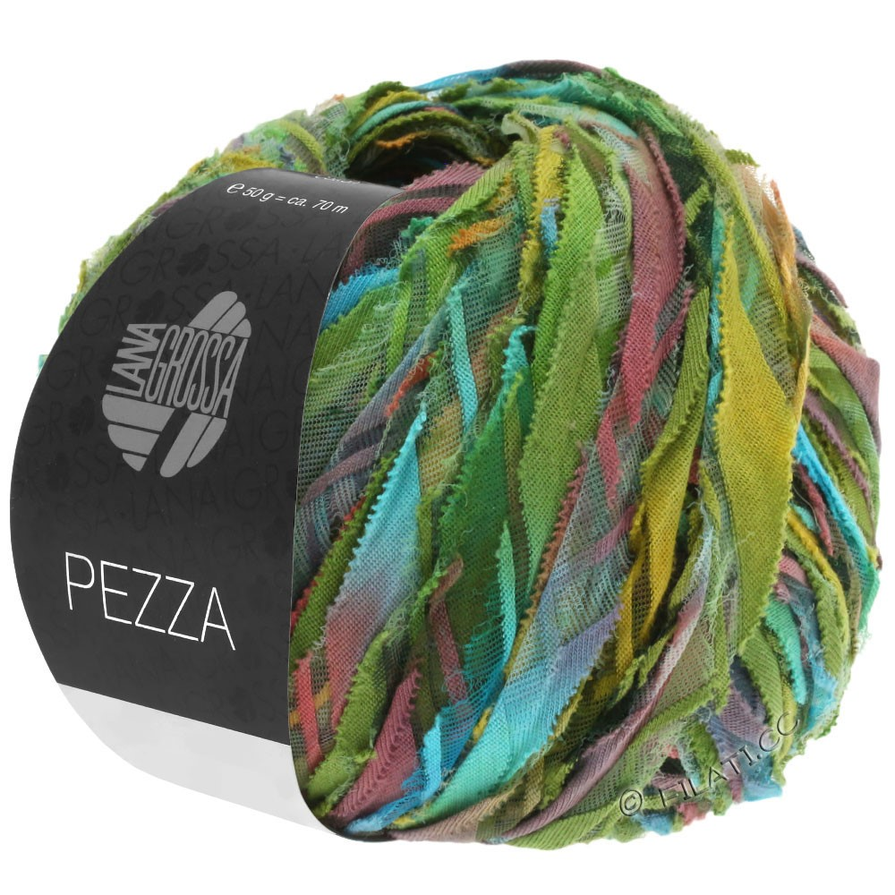 Lana Grossa PEZZA | 05-vert/turquoise/terre cuite/ocre/olive