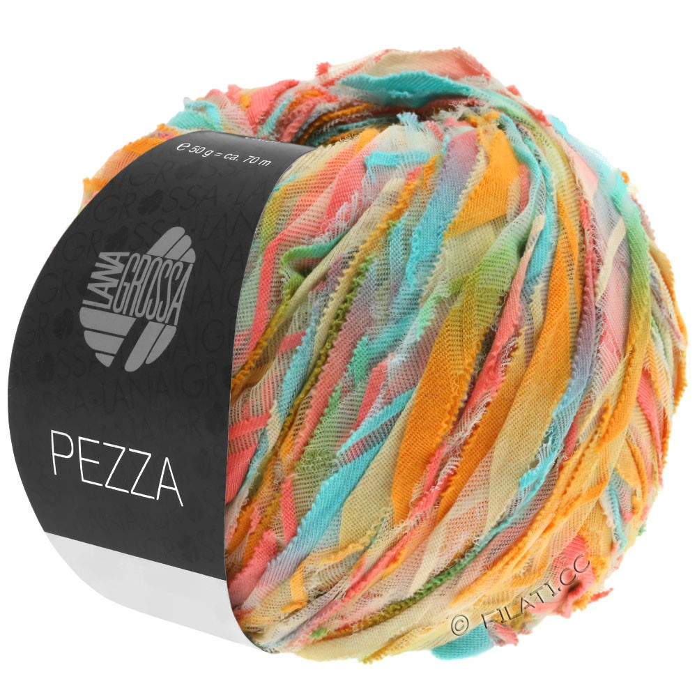 Lana Grossa PEZZA | 06-menthe/saumon/ocre/beige