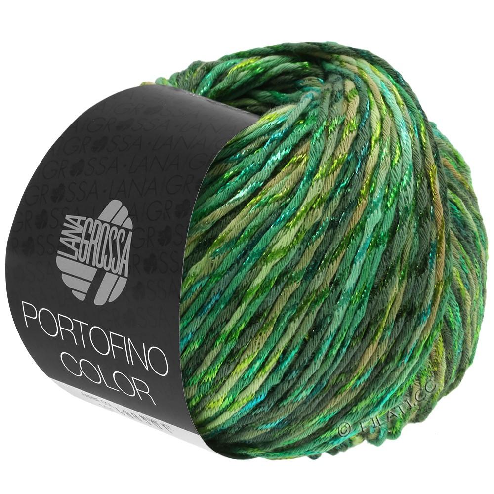 Lana Grossa PORTOFINO Color | 105-vert roseau/beau vert/vert herbe/sapin
