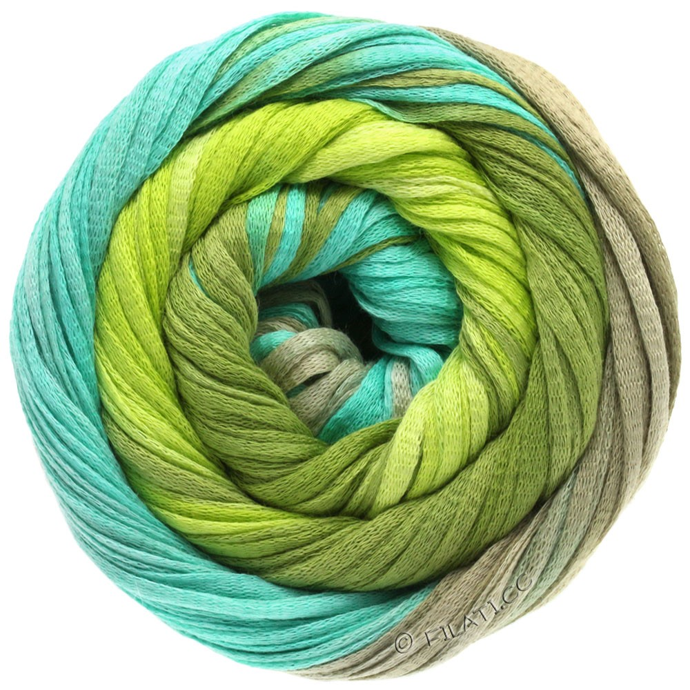 Lana Grossa PRIMAVERA | 102-vert mai/vert clair/turquoise/gris platine
