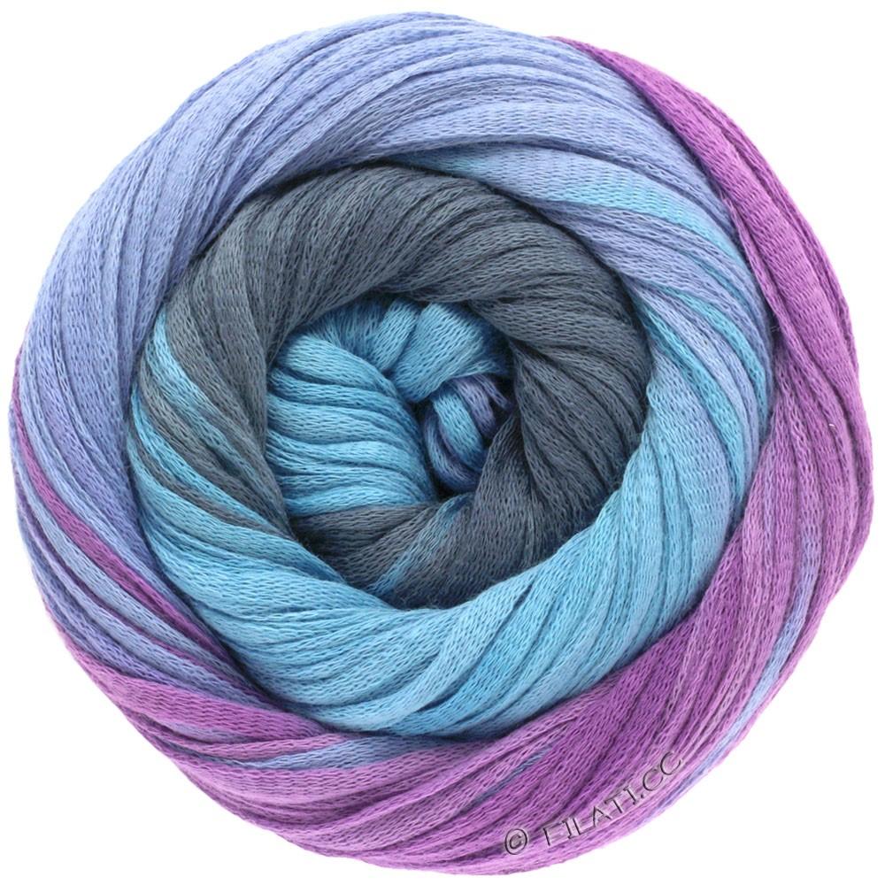 Lana Grossa PRIMAVERA | 104-bleu noir/turquoise/bleu/violet rouge