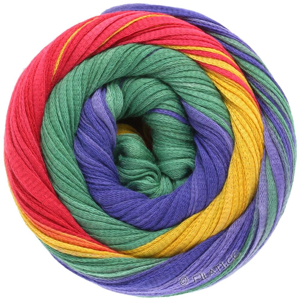 Lana Grossa PRIMAVERA | 106-fraise/rouge brique/violet rouge/violet bleu/jaune/vert