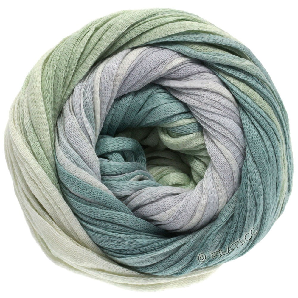 Lana Grossa PRIMAVERA | 109-nature/gris argent/gris vert/vert pastel