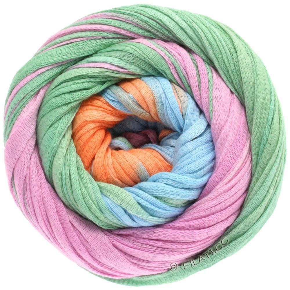 Lana Grossa PRIMAVERA | 110-abricot/turquoise pastel/bleu ciel/lilas/beige
