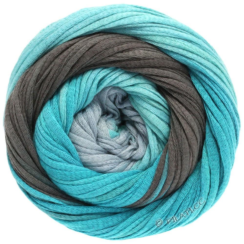 Lana Grossa PRIMAVERA | 113-gris clair/menthe/turquoise/pétrole/gris foncé