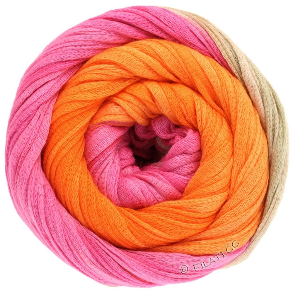 Lana Grossa PRIMAVERA | 117-rose vif/beige nacré/orange