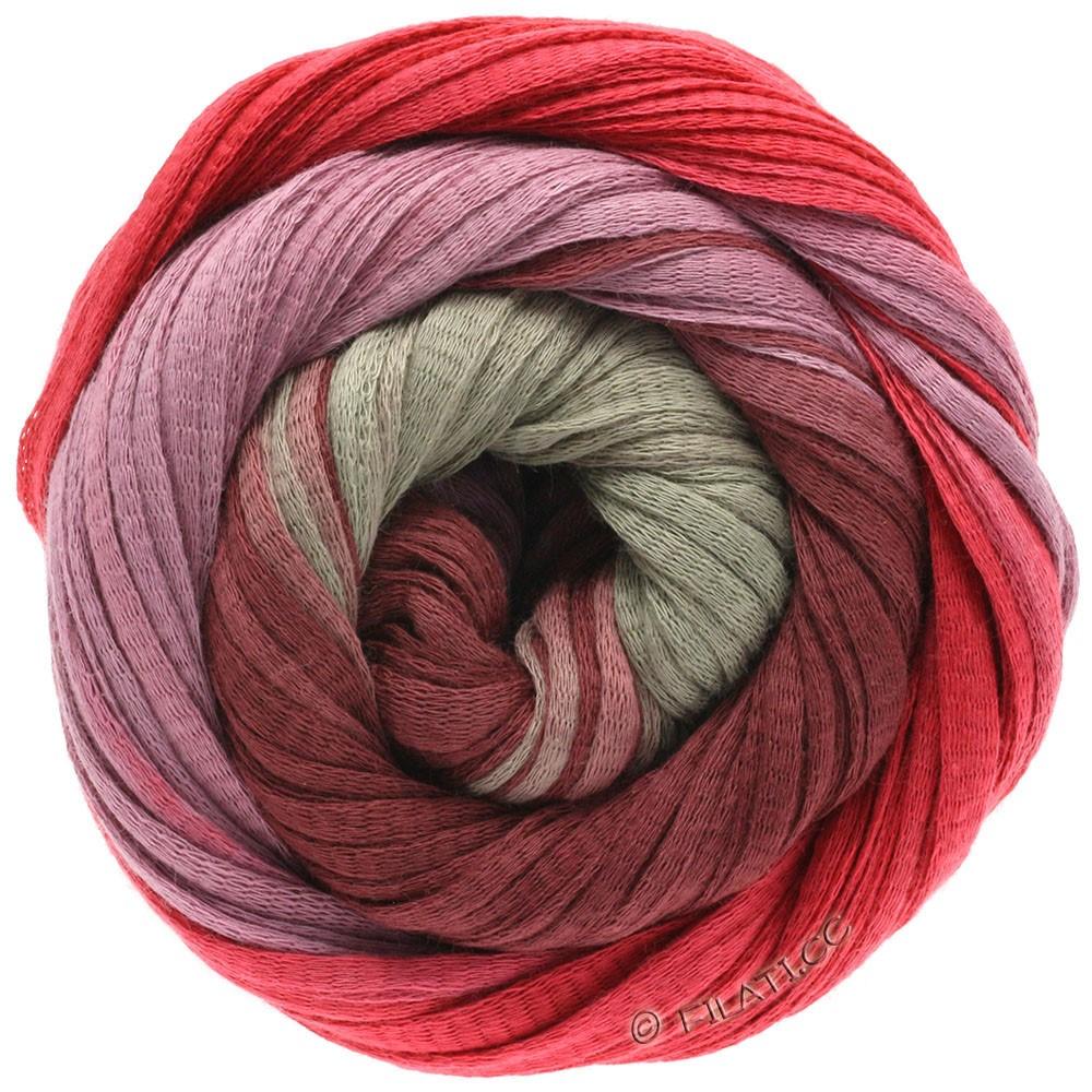 Lana Grossa PRIMAVERA | 121-rouge brique/bordeaux/violette antique/beige