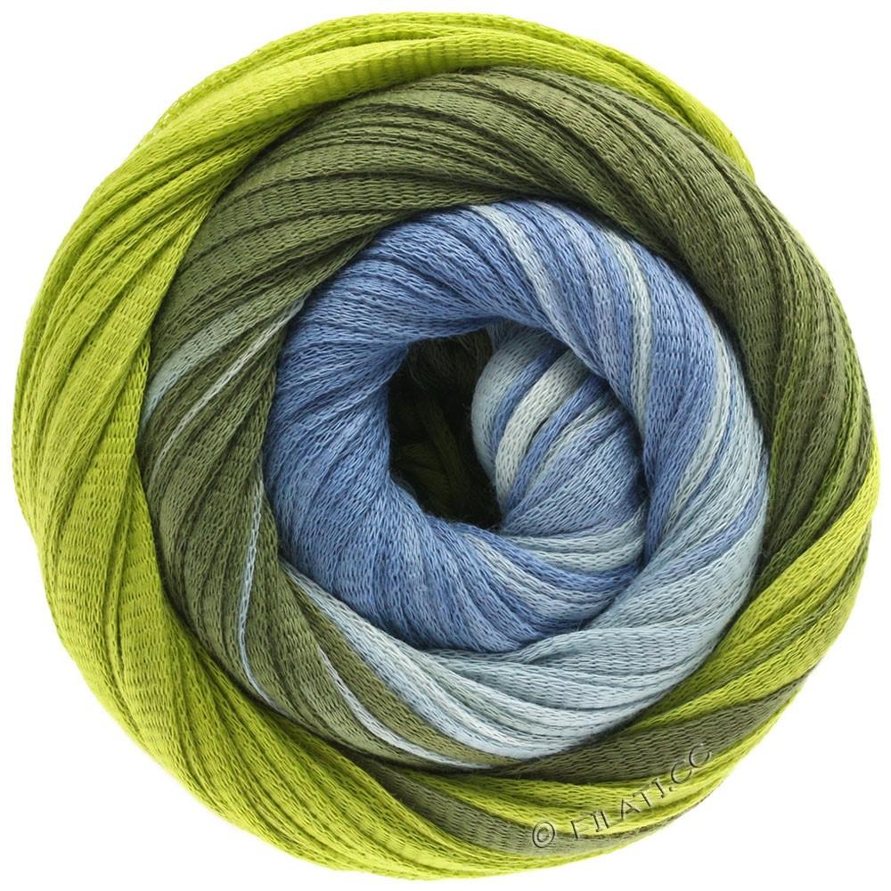 Lana Grossa PRIMAVERA | 122-bleu pastel/vert jaune/olive foncé