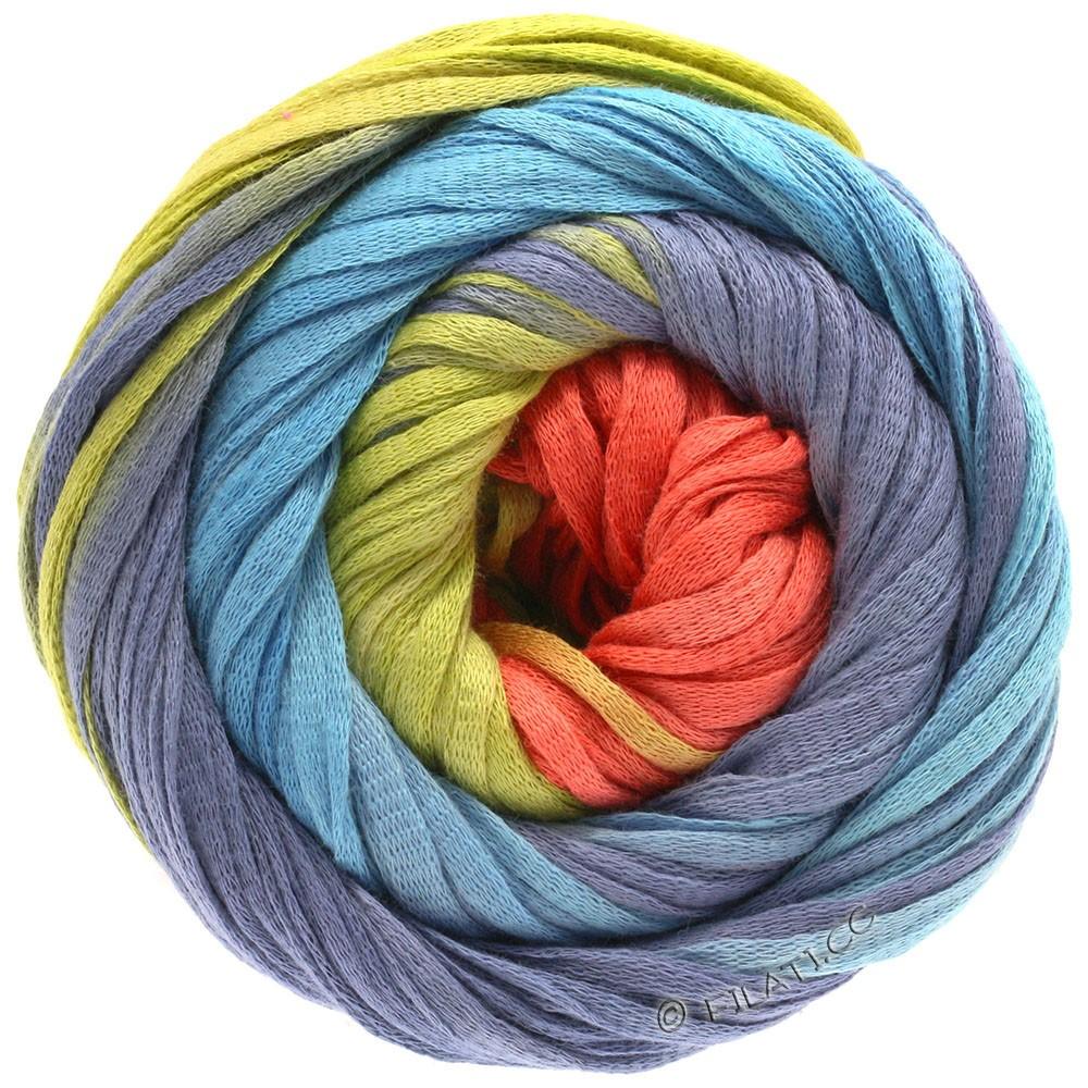 Lana Grossa PRIMAVERA | 123-corail/vert jaune/violet bleu/turquoise