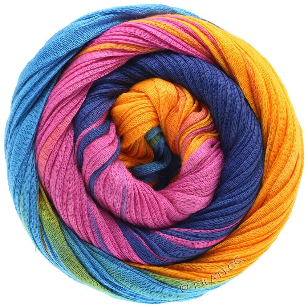 Lana Grossa PRIMAVERA | 126-bleu turquoise/jaune soleil/lilas/violet/marine/menthe