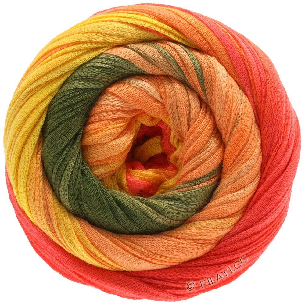 Lana Grossa PRIMAVERA | 130-jaune/orange/corail/kaki