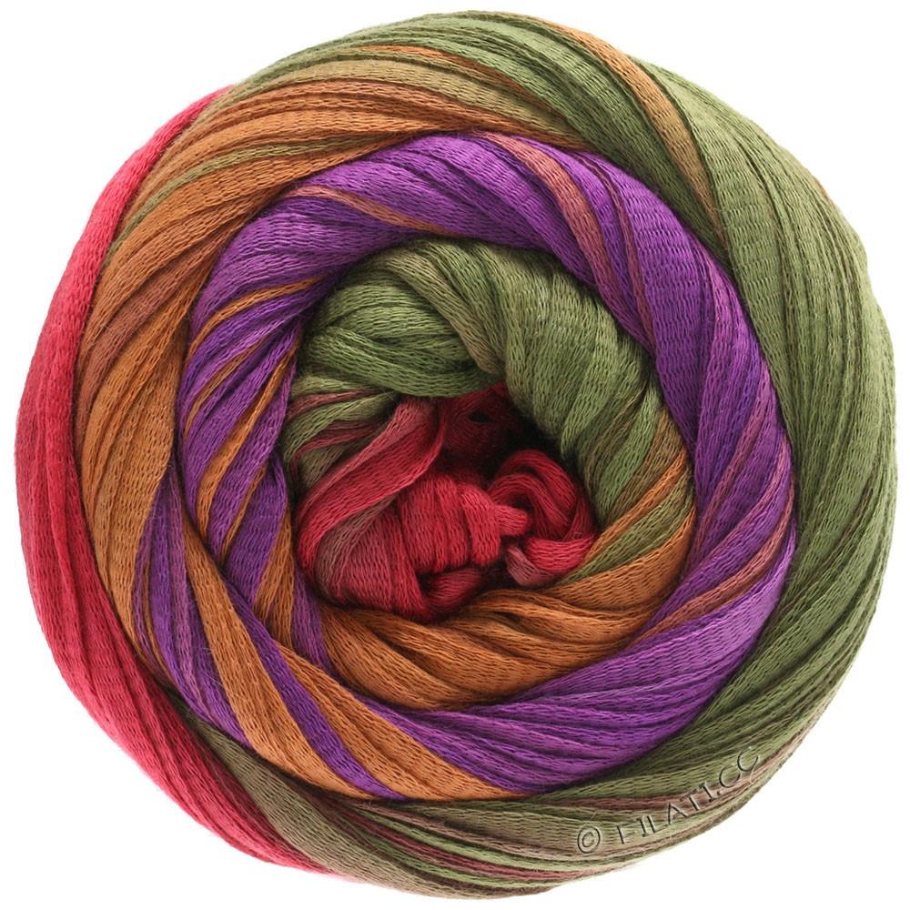 Lana Grossa PRIMAVERA | 131-violet rouge/cannelle/olive/rouge oriental
