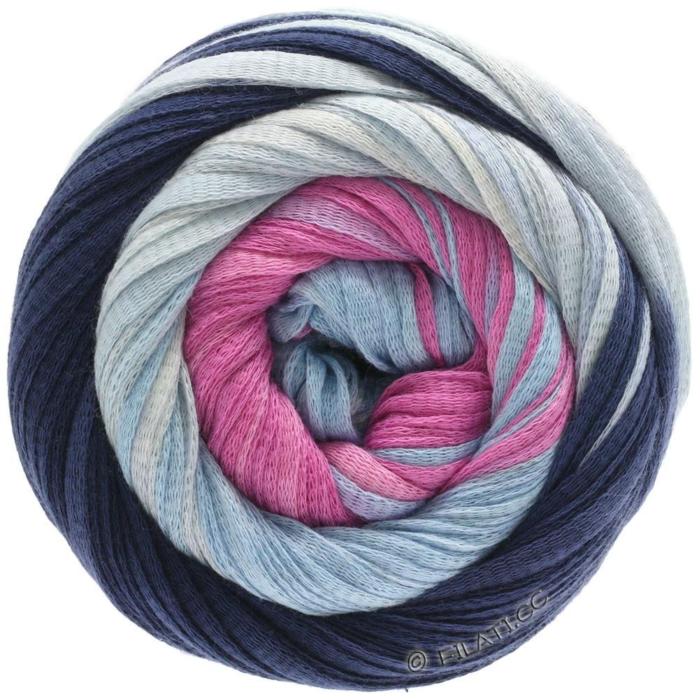 Lana Grossa PRIMAVERA | 132-bleu foncé/bleu clair/rose vif/rose/nature